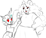 ! aradia_megido blush chubstuck deleted_source gummypeen heart legal_ramifications musclestuck no_glasses redrom shipping sketch terezi_pyrope