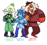 ace_dick chameleocoonj crossover pickle_inspector problem_sleuth problem_sleuth_(adventure) request steven_universe team_sleuth text