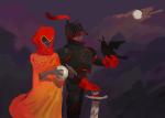 1800redpop armor au crows dave_strider knight rose_lalonde seer siblings:daverose sword weapon