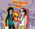 bromance crossover dancestors dream_ghost fistbump latula_pyrope shipomaster skateboard the_world_ends_with_you