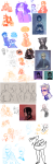 ! ancestors animal_ears arm_around_shoulder art_dump blush carrying cats czarrs disney equius_zahhak feferi_peixes fefetasprite freckles frozen heart hetalia kiss madoka_magica meowrails music_note nepeta_leijon no_glasses noose palerom queen_bee redrom shipping sketch sollux_captor soul_eater sprite sweat terezi_pyrope the_sufferer unknown_crossover word_balloon