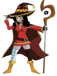 8_ball cosplay crossover hippocrit kono_subarashii_sekai_ni_shukufuku_wo no_glasses solo vriska_serket zodiac_symbol