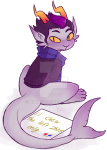 aukki13 eridan_ampora no_glasses pet_shaming petstuck solo text troll_tail watermark