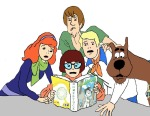 book briantis crossover image_manipulation john_egbert scooby-doo spirograph text