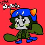 chibi crossover nepeta_leijon newtypehero solo super_milk_chan text