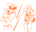 alcohol babies bro cocktail_glass crying dave_strider kiki-kit lineart mom monochrome rose_lalonde strilondes