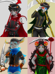 aradia_megido aspect_symbol au blood_aspect body_modification breath_aspect cigarette_holder_lance doom_aspect karkat_vantas kiwiuccu scythe sickle sollux_captor tavros_nitram time_aspect wonk zodiac_symbol