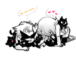 cats dirk_strider heart highlight_color meowcats request roxy_lalonde word_balloon zhen