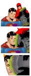 1s_th1s_you batman crab_communicator crossover dave_strider dc image_manipulation karkat_vantas sopor_pie starry007 superman