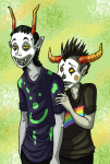 :o) alternate_hair body_modification facepaint gamzee_makara pbj rainbow shipping sopor_slime specialsari tavros_nitram