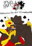blackrom blood crossover gamzee_makara holding_hands jack_noir kiss quere redrom shipping spades_slick superjail!