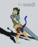 fantasystuck heart_aspect nepeta_leijon non_canon_design sword text thatlldoodles weapon