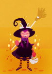 broom deebree dogtier godtier halloweenstuck jade_harley limited_palette modtier solo space_aspect witch