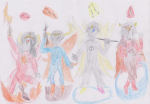 aradia_megido blood_aspect breath_aspect crown doom_aspect godtier hearts-rogue huge karkat_vantas knight mage maid non_canon_design page sollux_captor tavros_nitram time_aspect unknown_weapon