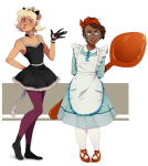 animal_ears artist-in-training halloweenstuck jane_crocker roxy_lalonde spoon