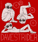 dave_strider dzueni gears monochrome multiple_personas sleeping solo starter_outfit