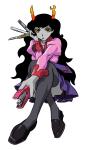 bakemonogatari cosplay crossover hippocrit monogatari no_glasses sitting solo vriska_serket