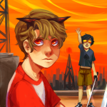 city dave_strider john_egbert katana no_glasses spade_shirt sxae