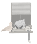 dirk_strider grayscale headshot lil_cal pillowcake seagulls