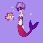 animalstuck crossover dave_strider disney john_egbert merfolk the_little_mermaid underwater windykins