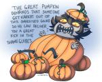 crossover halloweenstuck karkat_vantas peanuts pumpkin shubbabang solo