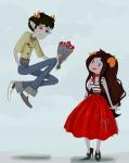 2spooky 50sstuck aradia_megido bunnyknickers flowers no_glasses redrom shipping sollux_captor