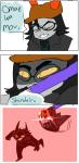 comic felisavesart fist_of_the_north_star hiveswap parody tasseled_sword tegiri_kalbur text