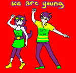 arijandro fashion jade_harley karkat_vantas kats_and_dogs limited_palette lyricstuck no_glasses shipping supergrass text