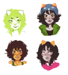 dream_ghost dreamself headshot humanized multiple_personas myaverageartblog nepeta_leijon nepetasprite no_hat solo sprite