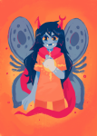 blush carnivorouscormorant godtier light_aspect no_glasses solo thief vriska_serket
