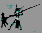 2sday au black_rock_shooter crossover highlight_color solo terezi_pyrope vocaloid