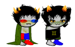 blush clothingswap image_manipulation lemon_lime m1ssnanami nepeta_leijon no_hat shipping sleepystuck sollux_captor sprite_mode