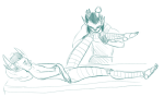 adventureisyou artificial_limb bed equius_zahhak no_shirt robolegs tavros_nitram