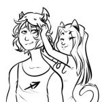 alternate_hair equius_zahhak meowrails nepeta_leijon princesspeepo