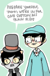 crossover john_egbert karkat_vantas professor_layton sleepy0wl word_balloon
