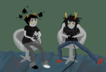 blackrom double_trouble gaming holly no_glasses shipping sollux_captor spade vriska_serket