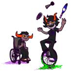 deuce_clubs faygo gamzee_makara impliedlizard rubber_horn sopor_slime tavros_nitram wheelchair