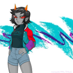90sstuck fashion hottang seeing_terezi solo terezi_pyrope