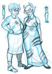 chubstuck jane_crocker kanaya's_red_dress kanaya_maryam lineart myluckyseven sketch starter_outfit wip