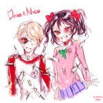 blood crossover crying dave_strider gore impalement jyaba love_live! ohgodwhat starter_outfit text
