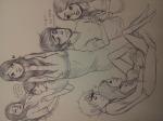 aradia_megido gamzee_makara grayscale humanized kotari-kills miracle_whip shipping