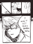 animestuck blood comic godtier grayscale heir john_egbert lawey solo word_balloon