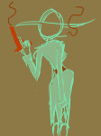 back_angle bq exhumation handgun limited_palette sketch smoking snowman solo