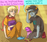 consorts godtier kneeling libratastic no_glasses rose_lalonde rule63 seeing_terezi seer terezi_pyrope turtles word_balloon