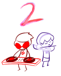 dave_strider figsnstripes holidaystuck instrument limited_palette lineart rose_lalonde siblings:daverose starter_outfit turntables