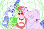 animalstuck beta_kids crossover dave_strider jade_harley john_egbert lux-tempestas madagascar rose_lalonde