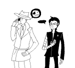 arijandro artificial_limb clothingswap humanized jack_noir monochrome problem_sleuth problem_sleuth_(adventure) problem_slick shipping spade spades_slick word_balloon