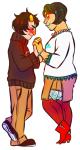 aboutascoolasfrenchtoast blush holding_hands jane_crocker karkat_vantas red_velvet shipping