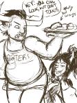 au chubstuck dubcon food hooters shipping sketch specialsari tavriska tavros_nitram vriska_serket word_balloon