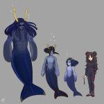 ancestors aquariumstuck aradia_megido au dancestors equius_zahhak expatriate_darkleer height_chart horuss_zahhak humanized merfolk no_glasses salihombox zahhaks